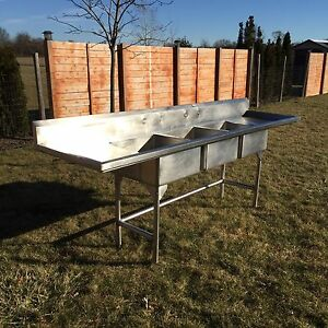 Stainless Steel 3 sink