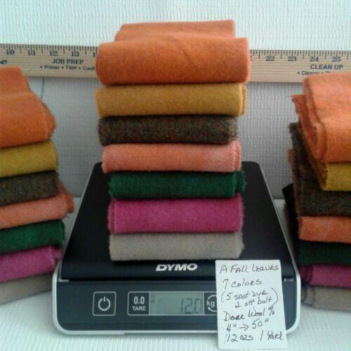AFALLEAVES 7 COLORS ORANGE BROWN DORR 100% Wool 12OZS Aprx 1Yrd+ for Rug Hooking