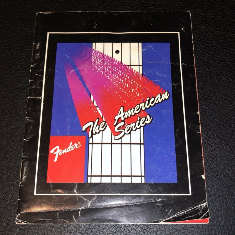 FENDER USA American Standard STRATOCASTER Owners Manual Vintage 1980s NICE!