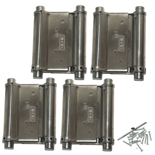 Saloon Door Hinges - Double Acting Cafe Gate Swinging Action | 3 Inch, 4 pieces