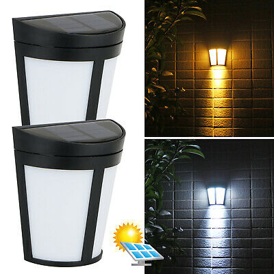 6LED Solar Power Wall Mount Light Outdoor Garden Path Way Fence Yard Patio (Led Outdoor Wall Mount)