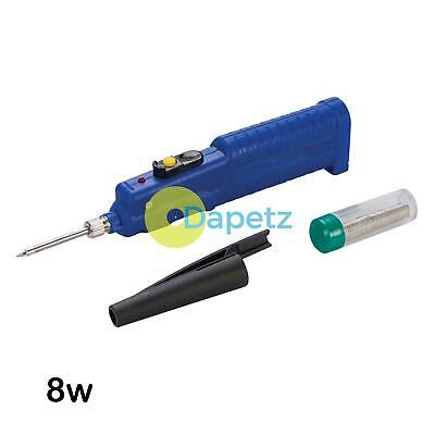 Battery Powered Soldering Iron 8w With Safety Cap Solder 3 X Aa Batteries