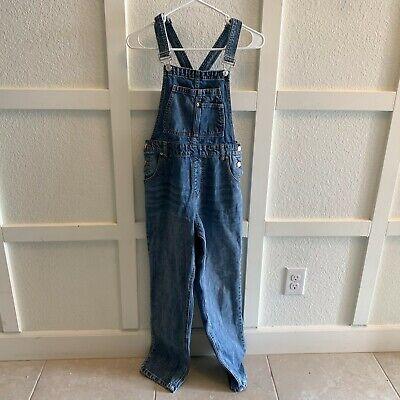Vintage Overalls & Jumpsuits Forever 21 Womens Blue Medium Wash Pockets Straight Denim Overalls Size Small $36.99 AT vintagedancer.com