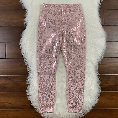 Fabletics Women's Size XXS / XS Pink Foil High Waisted Pureluxe 7/8 Leggings