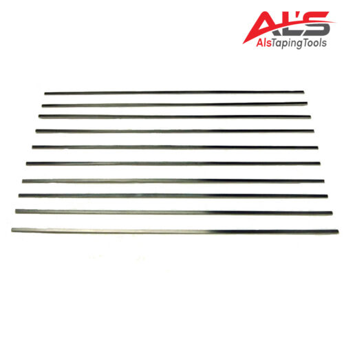 """12"""" Stainless Steel Drywall Flat Box Blades - 10 Pack - NEW"""