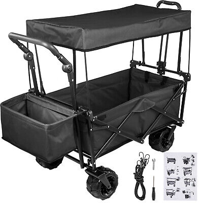 Folding Wagon Cart Collapsible Folding Garden Cart Beach Uti