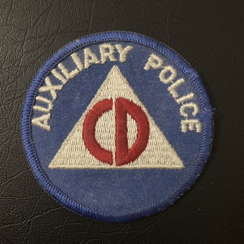 NOS Vintage Patch - POLICE  CIVIL DEFENSE AUXILIARY POLICE 1950s