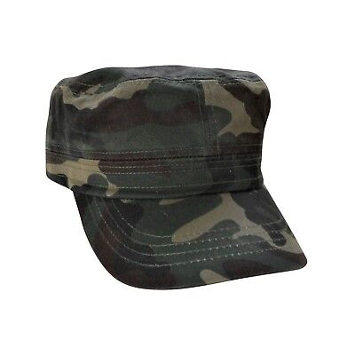 Camouflage Military Style Cap (Camouflage Cadet Hat 100% Cotton Military Style Cap Adjustable )