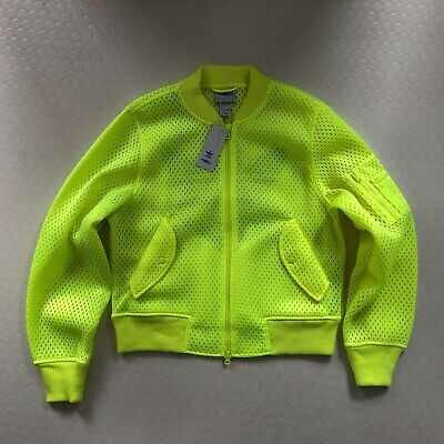 Super Rare Adidas x Jeremy Scott Mens 'Puff Bomber' Fluoro Mesh Jacket Size L
