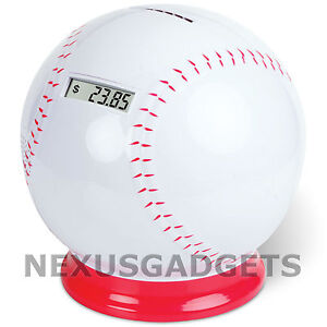 Baseball-Sports-Coin-Counting-Digital-Counter-Money-Piggy-Bank-w-Cheering-Sound