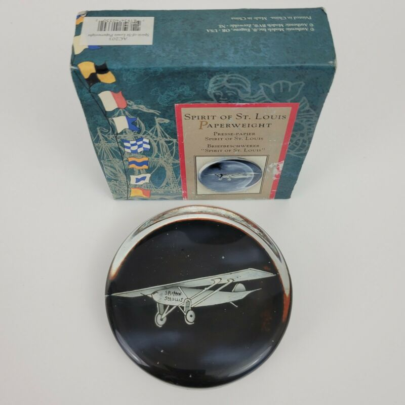 """Spirit of St. Louis (Charles Lindbergh) May 1927, 3.75"""" Wide, Heavy Glass"""