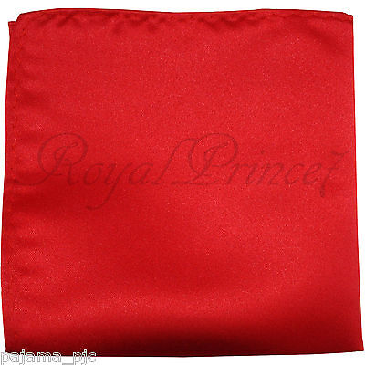 New Men's SOLID Pocket Square Hankie Only Red 10 x 10 inches