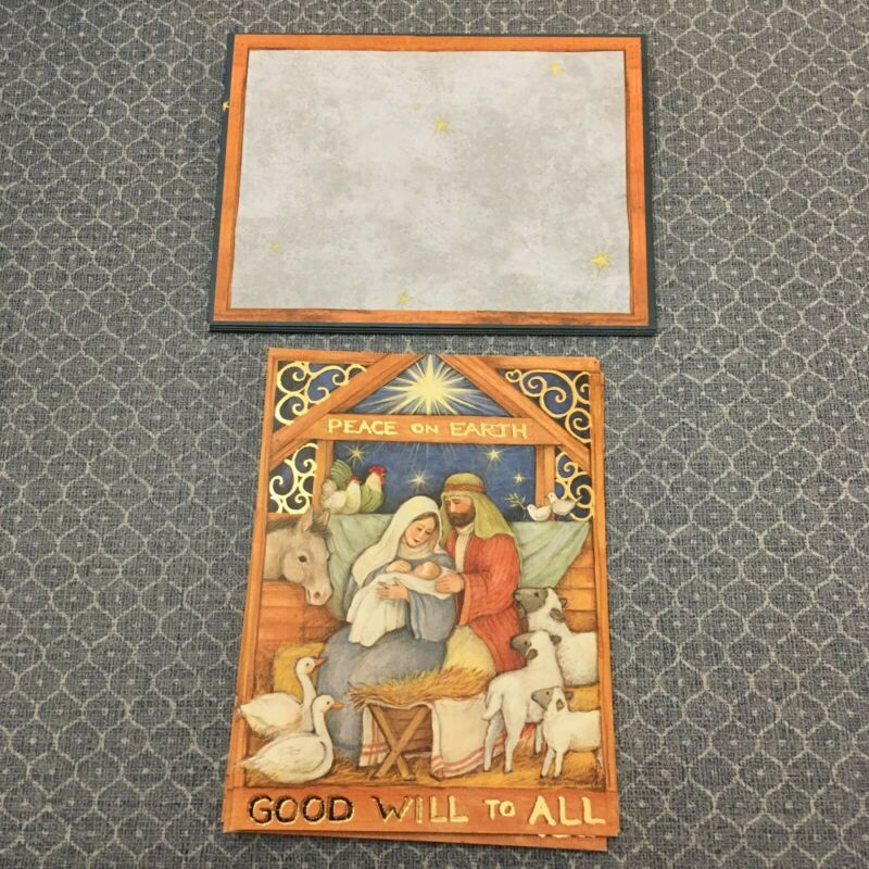 """Vintage LANG Susan Winget """"Good Will To All"""" Christmas Cards, Set of 5"""