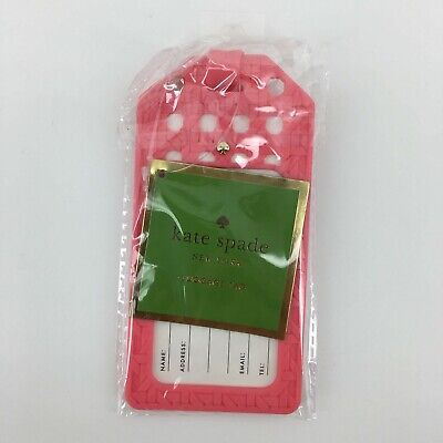 Kate Spade New York Caning Luggage Tag Coral Pink - New York Luggage Tag