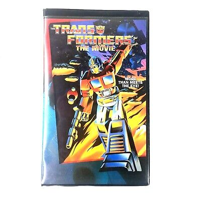 The Transformers Movie More Than Meets The Eye Clamshell VHS Cassette Tape