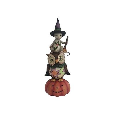 Jim Shore Heartwood Creek HALLOWEEN Pint Sized Stacked Owl/Mouse NEW - Jim Shore Halloween
