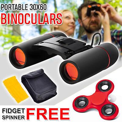 Outdoor Travel Folding Binoculars Telescope Climb 30 x 60 Zoom W/ Bag