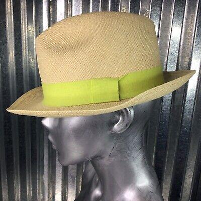 J. Crew Handmade Fedora Hand Made Genuine Panama Hat Natural Fiber Size S / M
