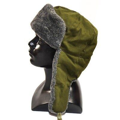 f801f2c1c1bb9 Original CZ Czech army cap military winter hat Ushanka grey olive hat