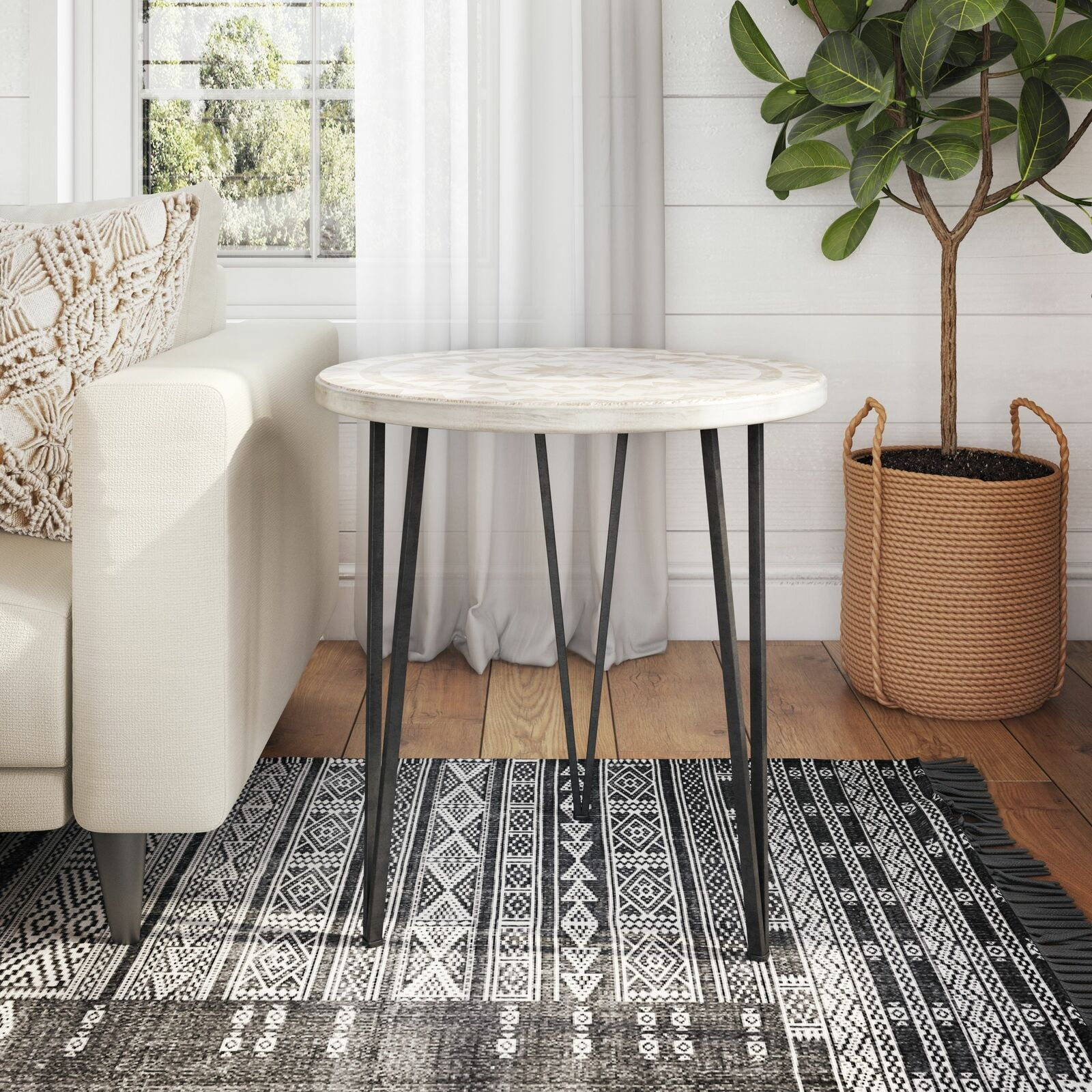 Bohemian Accent Table Sofa End Side Console Bedside Modern Living Room Furniture Ebay