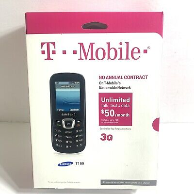T-mobile Prepaid Samsung T199 No Contract Cell Phone - Black Brand New