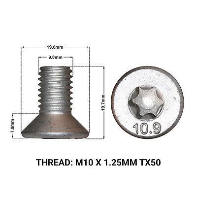 FRONT BRAKE DISC RETAINING SCREWS FITS: MINI R50 R52 ONE COOPER 02-08 2 DRS1669D