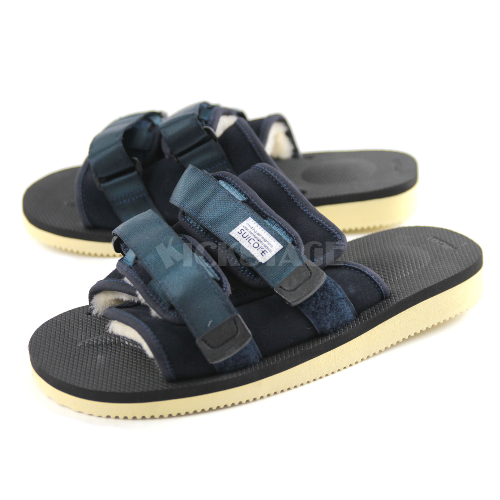 6670294d2cc6 Suicoke FW17 OG-056M   MOTO-M Navy Cow leather Mouton Sandals Slide SK056MNY