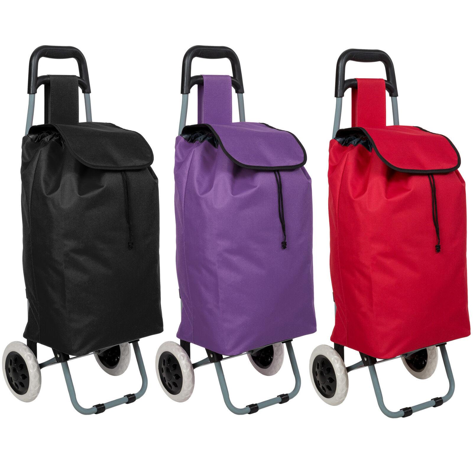 Einkaufstrolley Einkaufsroller Trolley Roller Einkaufswagen klappbar schwarz lil