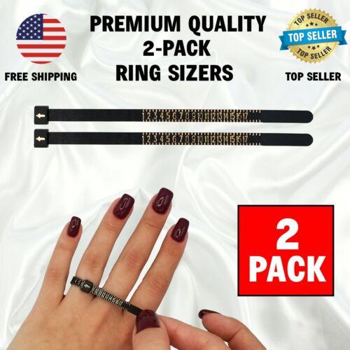 2 Pack Ring Sizer Measuring Tool Plastic Finger Sizing Finder Reusable USA 1-17