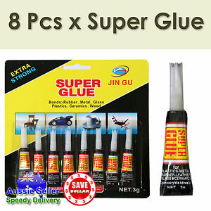 8p super glue Instant Quick-drying Adhesive Metal Rubber Super Glue Hardware