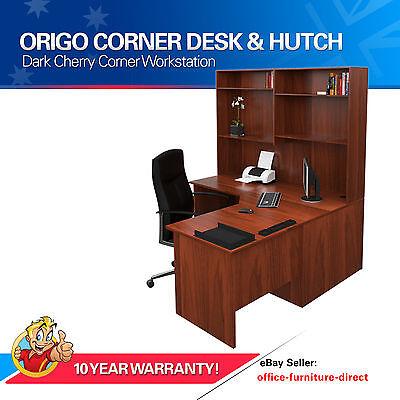 Home Corner Workstation Office Desk with Hutch Study Furniture