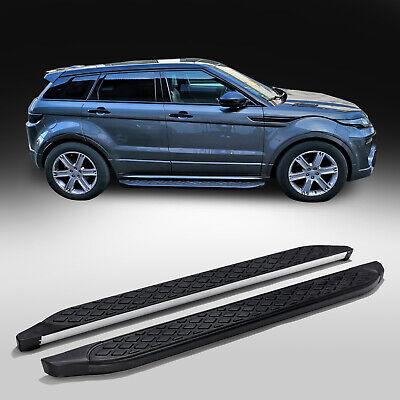 Premium Edelstahl Ladekantenschutz Schwarz für Land Range Rover Evoque 2011-2019