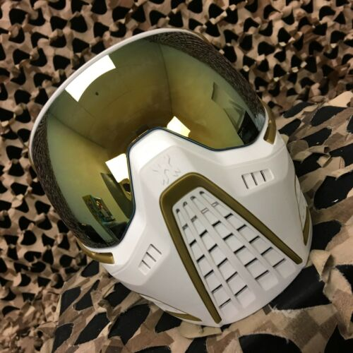 NEW HK Army KLR Paintball Mask - SE White Gold