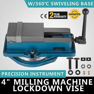 4 Milling Machine Lockdown Vise -swiveling Base 360 Iron 80000 Psi Bending