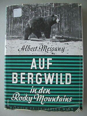 Auf Bergwild in den Rocky Mountains 1944 Bighorntrail Alberta Ausreise ....