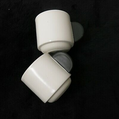 Kate Spade Saturday Black Dot Handle Stacking Coffee Mug Espresso Tea Cup White