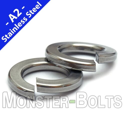 """SAE Stainless Steel Split Lock Washers - #2 #4 #6 #8 #10 1/4"""" 5/16"""" US Inch 18-8"""