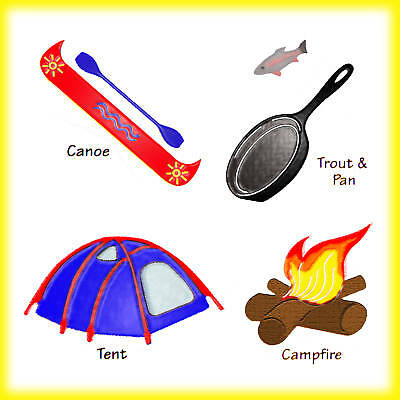 (Sizzlits Camping Set 4-die #38-9691 Retail $19.99 Wonderful Rare set! Limited )