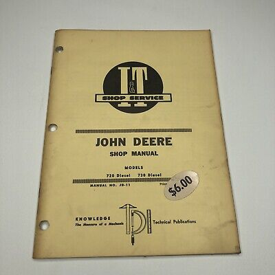 John Deere 720 730 Diesel Tractor It Shop Service Repair Workshop Manual Jd-11
