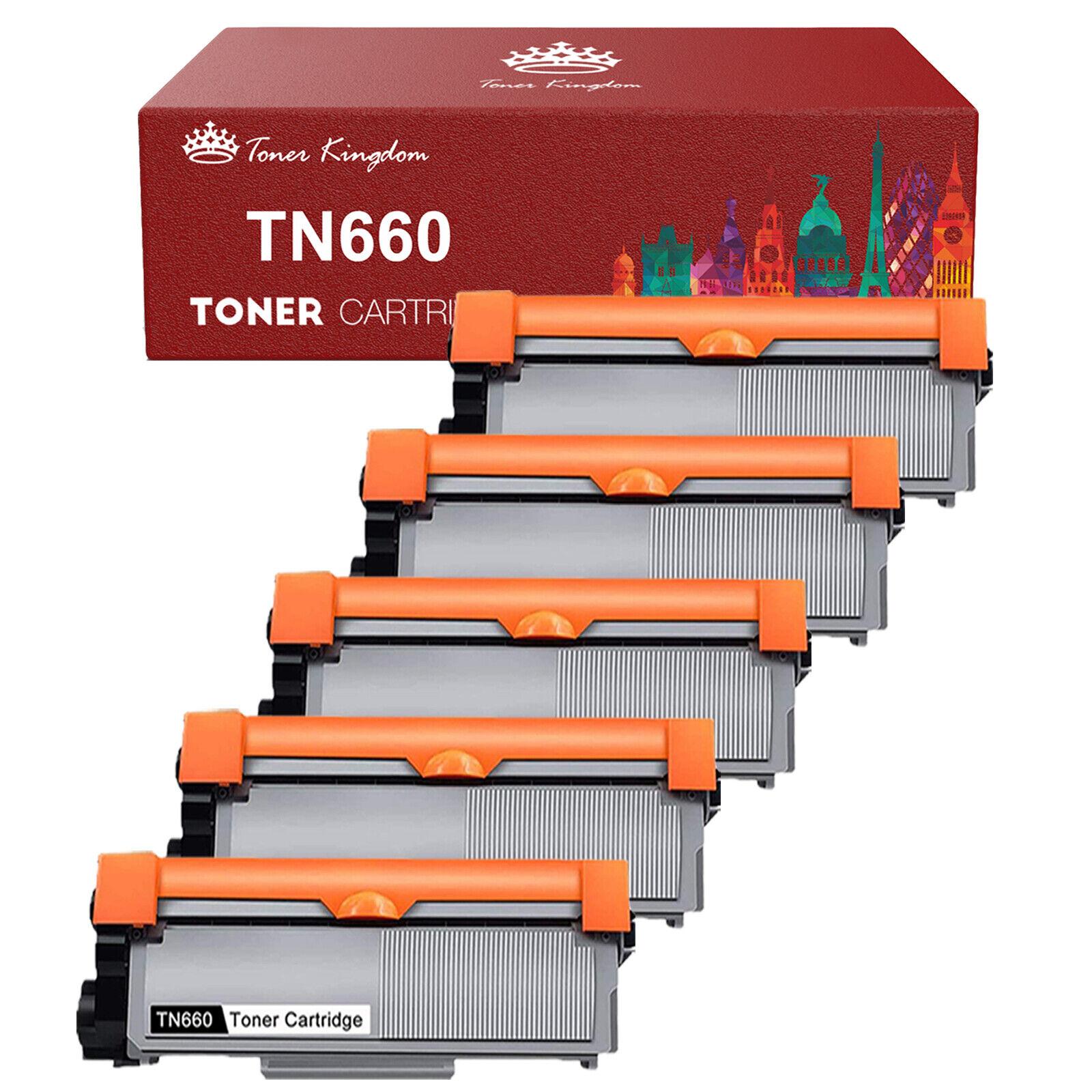 5PK High Yield TN660 TN630 Black Toner Cartridge For Brother