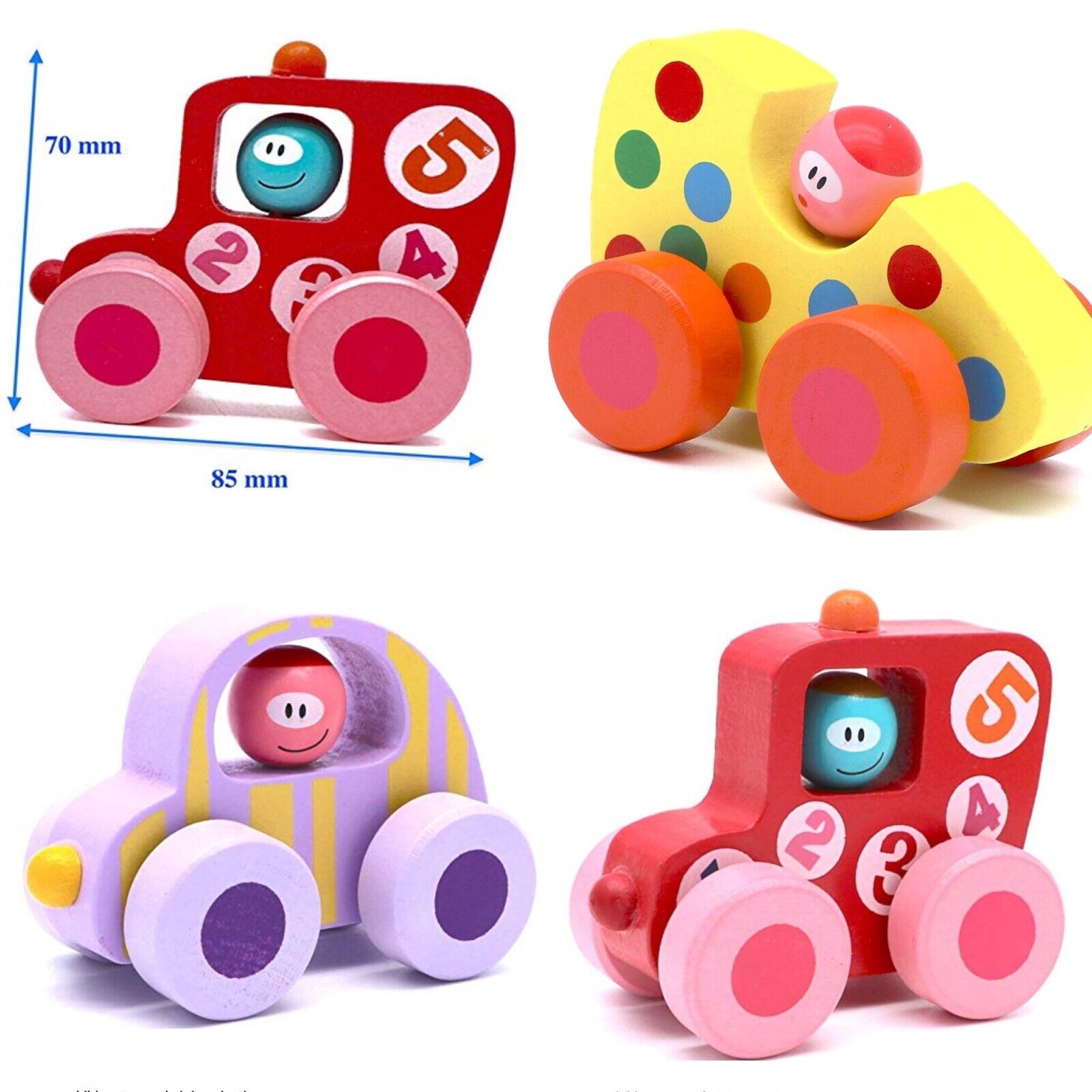 baby toy kids wooden cars wooden wheels
