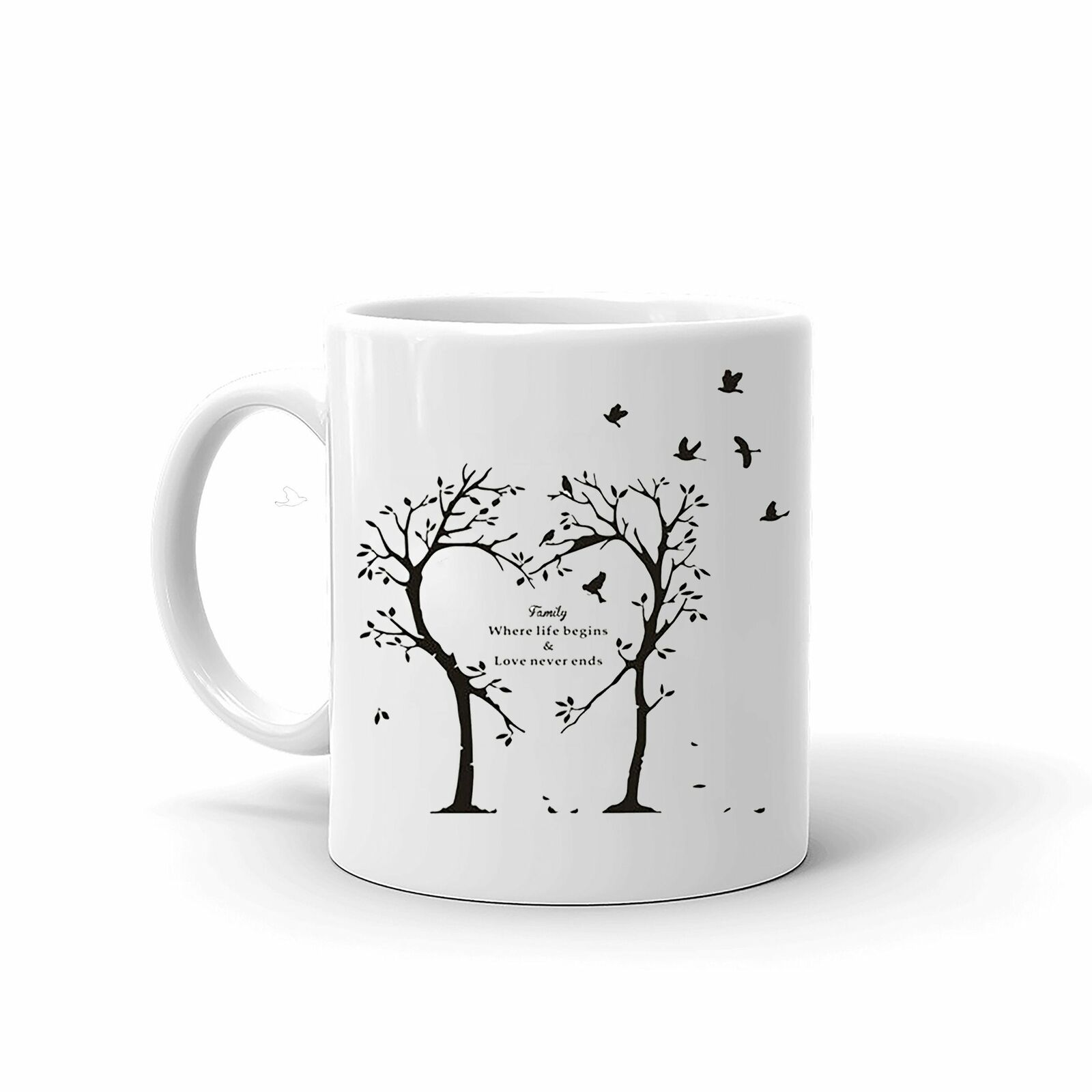 Family Where Life Begins Love Never Ends Best Quality Coffee Tea Mug 11 Pz - $13.99