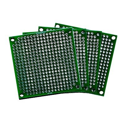 4 Pack - High Quality Double Sided Proto Perf Board With Solder Mask 2x2