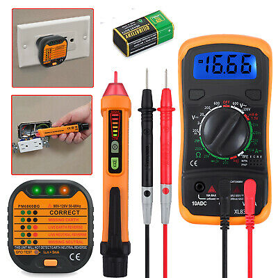 Digital Electrical Multimeter Non-contact Voltage Tester Pen And Socket Tester