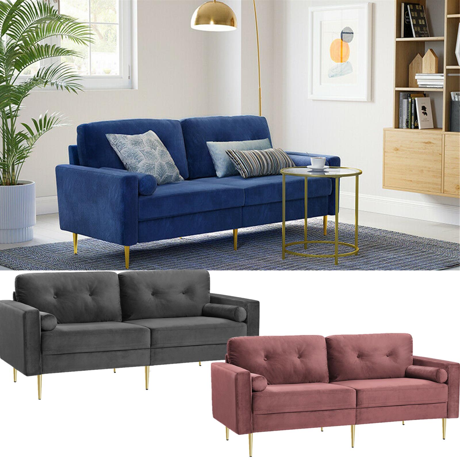 Schlafsofa,3-Sitzer Sofa, Couch für Wohnzimmer Funktionssofa, Bezug aus Samt