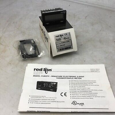 Red Lion Cub5tcr0 Miniature Electronic 5-digit Thermocouple Meter