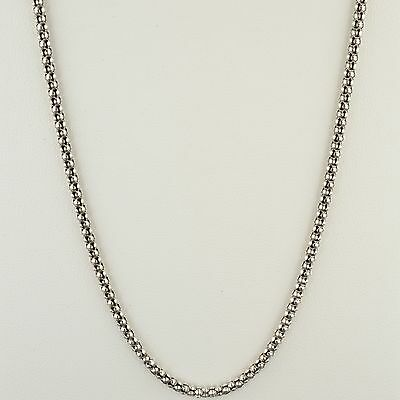 Oxidized Popcorn Chain (OXIDIZED STERLING SILVER 3MM FANCY POPCORN CHAIN 18
