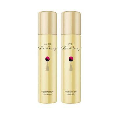 2 x Avon Far Away Perfumed Body Spray For Her 75ml  x 2 New