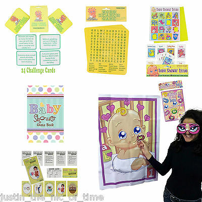 BABY SHOWER PARTY GAME GAMES Boy Girl Unisex ALL IN ONE - Baby Shower List