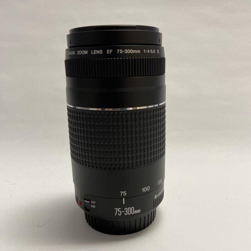 Canon Zoom Lens EF 75-300mm F/4-5.6 III Telephoto Zoom Lens. S/N 9061206094